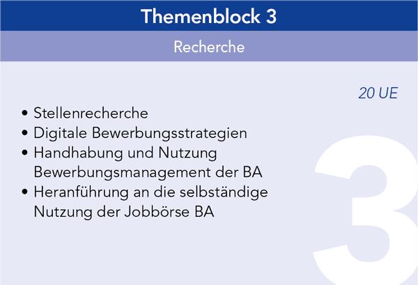 Themenblock 3 Recherche