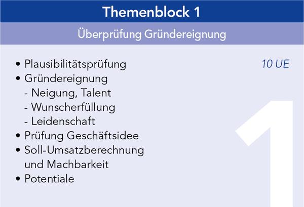 Gründercoaching Themenblock 1 Überprüfung Gründereignung